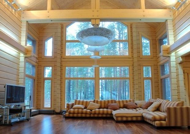 Интерьер деревянного дома из сруба внутри фото